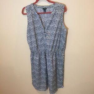 Ann Taylor Dress Sz L Drawstring waist